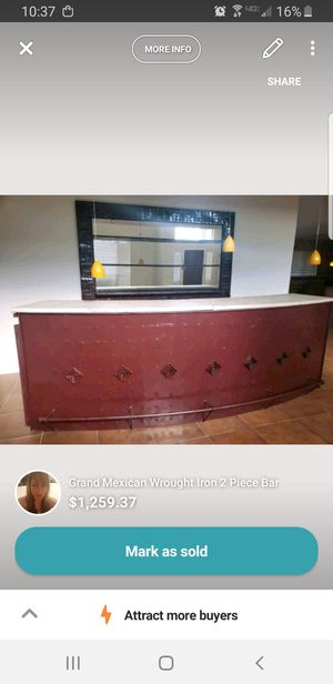 Mexican Wrought Iron Bar and Wrought Iron Mirror for Sale in Scottsdale, AZ