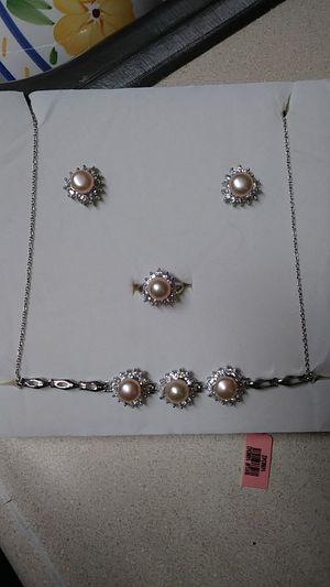 4 set earrings ,bracelet, necklace ,ring for Sale in Pawtucket, RI