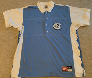VTG 90s North Carolina Tar Heels UNC Nike Warm Up Jersey - Men's XXL Polo Shooting Top for Sale in Katy, TX