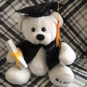 Graduation white teddy bear 🐻 for Sale in San Jose, CA