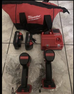 Milwaukee 18-Volt Lithium-Ion Brushless Cordless Compact Drill/Impact Combo Kit (2-Tool) W/ (2) 2.0Ah Batteries, Charger & Bag $220 Check out my oth for Sale in Lauderhill, FL
