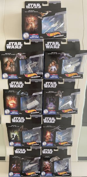 STAR WARS Commemorative Set Complete Series 1-9 Death Star for Sale in Miami, FL