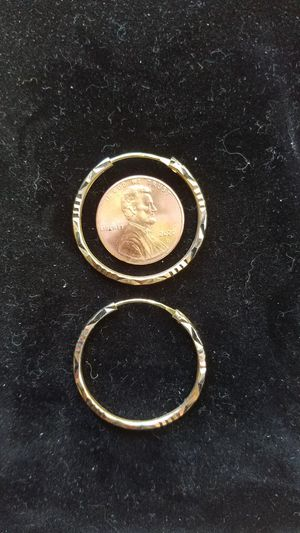 10k Loop earrings with yellow, rose, and white gold for Sale in Knoxville, TN