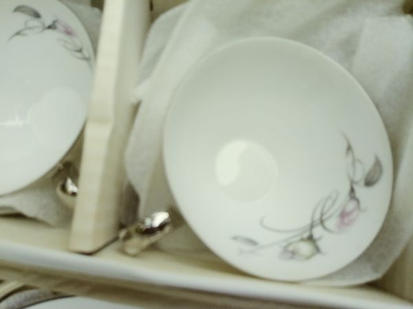 French Rose China set for 12