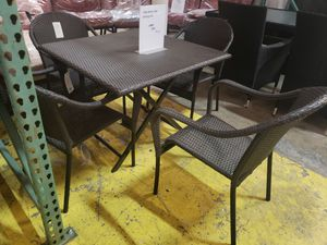New 5pc outdoor patio furniture dining set tax included delivery available for Sale in Hayward, CA