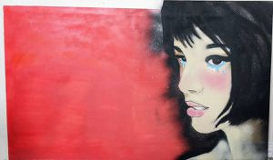 Large 5 ft x 3 ft Anime Hand Painted Wall Art OBO for Sale in Katy, TX