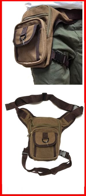 NEW! CANVAS Waist Pouch Hip Holster Pouch drop leg bag Waist Bag Side Bag hiking camping motorcycle hunting biking Pouch Waist Pack pouch for Sale in Carson, CA