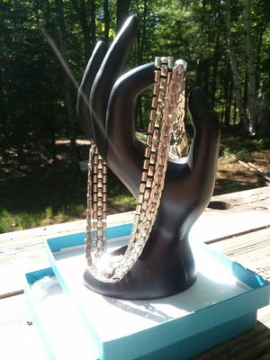 Silver colored double choker necklace for Sale in Marquette, MI