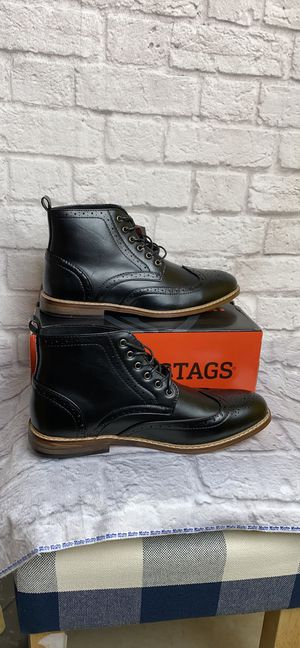 Dear Stags Jerad Black Vega Leather Boots Lace up Sz10 Mens New for Sale in Chino, CA