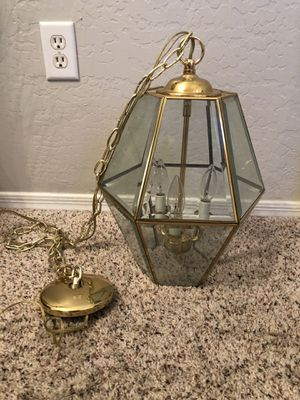 Two different GOLD chandelier pendant light fixture for Sale in Gilbert, AZ