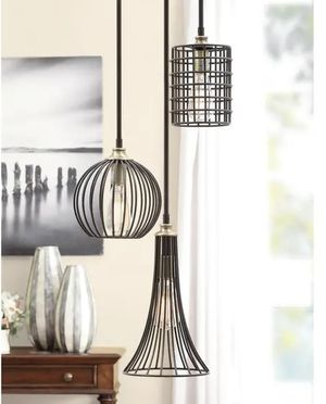 Trio black metal chandelier for Sale in Grapeview, WA