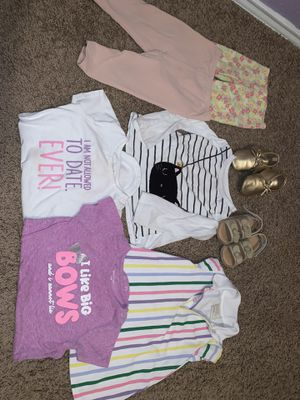 Baby girl clothes size 18/24 months, shoes size 5 for Sale in Dallas, TX