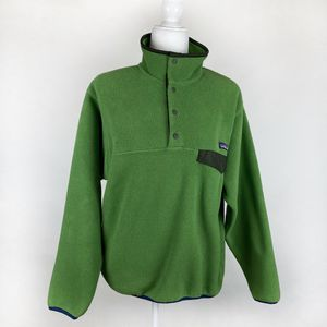 Patagonia Synchilla Snap T Green Fleece Pullover Sweater Men Small for Sale in Las Vegas, NV