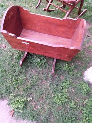 Vintage wood rocking cradle for Sale in Dallas, TX