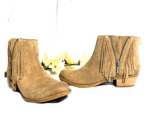 Lucky Brand Tan Fringe Booties for Sale in Tracy, MN