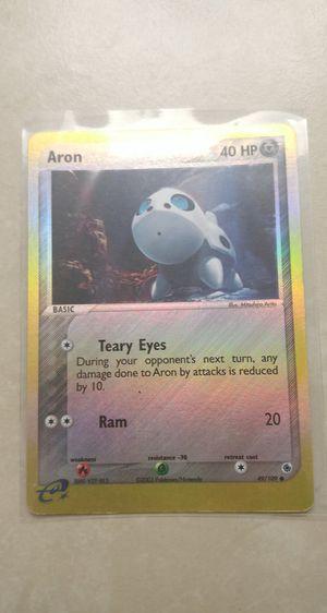 Aron Holo Pokemon Card***Read Description*** for Sale in Palm Bay, FL