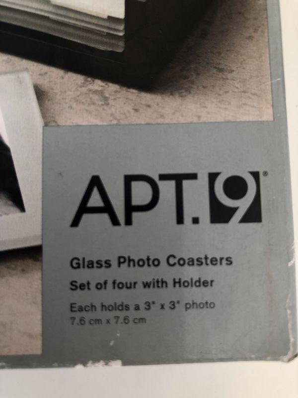 New glass photo coasters set custom