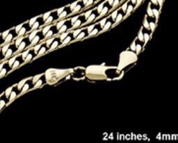 """24"""" 14k gold plated 4mm chain for Sale in Beverly Hills, CA"""