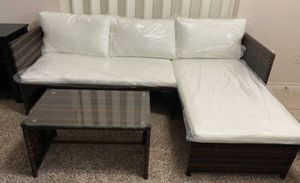 BRAND NEW OUTDOOR PATIO FURNITURE SECTIONAL AND TABLE SET for Sale in Addison, TX