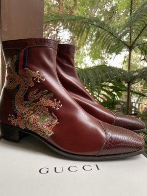 GUCCI Dragon Leather Boots for Sale in Los Angeles, CA