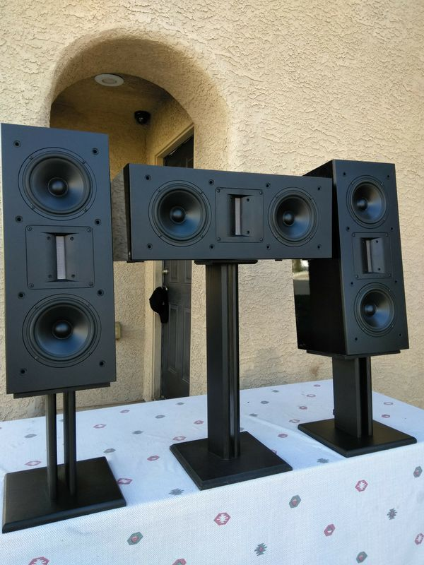 High-End! ( Apogge ) Model: Perseus Centaurus LCR /// Ribbon Technology /// Giant Bookshelf Speakers ... In Like New Condition!