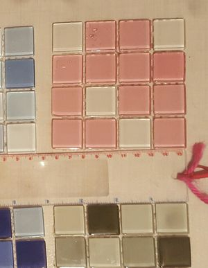 Mosaic Glass Tile Pastel Squares (5) for Sale in Huntington, NY