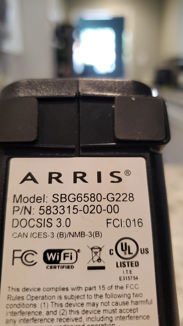 Motorola wifi modem/router