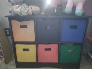 Kids toy storage wood case for Sale in Charlotte, NC