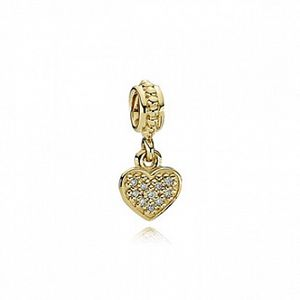 Pandora 14K Gold Pave Brilliant Heart for Sale in The Bronx, NY