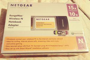 Netgear WN 511B Rangemax Wireless-N Notebook Adapter. for Sale in Brevard, NC