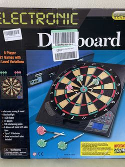 meicent Electronic Dart Board Soft Tip Dartboard Set LCD Display with 12 Darts 100 Tips 8 Players 18 Games 159 Options for Sale in San Francisco,  CA