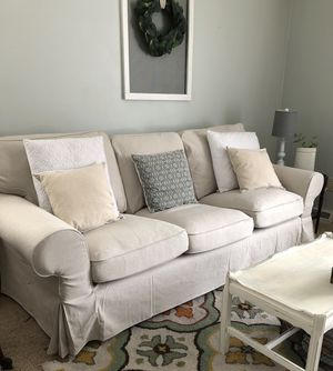 Ikea ektorp sofa, loveseat set with brand new cover!! - Can Deliver for Sale in Alexandria, VA