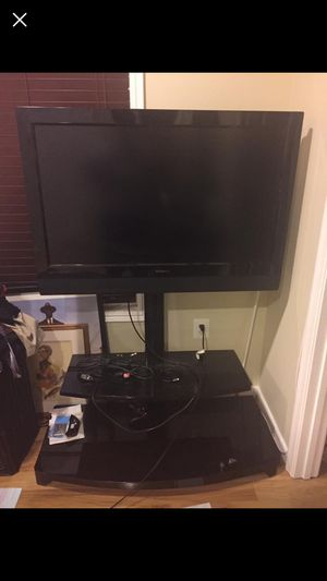 Black Glass TV Stand for Sale in Washington, DC