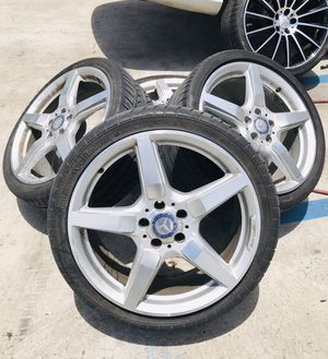 "19"" AMG OEM GENUINE MERCEDES BENZ WHEELS RIMS W/ TIRES for Sale in West Palm Beach, FL"