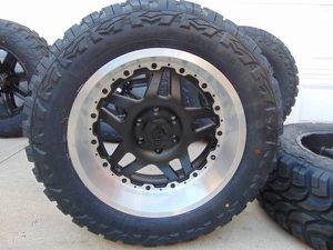 NEW *6 LUG* Satin Black 20X10 Gear Alloy Rims LT 33 12.50 20 Mud Tires for Sale in Aurora, CO