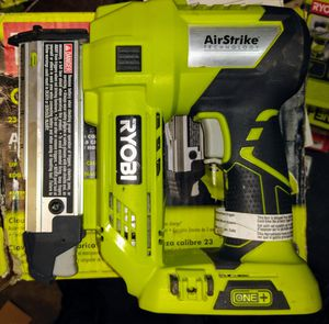 RYOBI 18-Volt ONE+ Lithium-Ion Cordless AirStrike 23-Gauge 1-3/8 in. Headless Pin Nailer (Tool Only) for Sale in Temple, GA