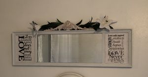 Vintage authentic farmhouse antique mirror frame for Sale in Boca Raton, FL