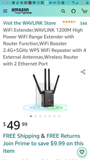 Wifi extender with router for Sale in Las Vegas, NV