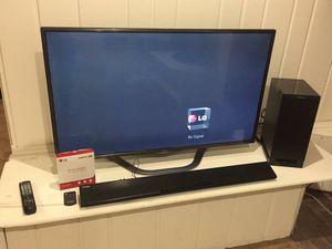 LG 3D TV and Panasonic Sound Bar+Sub for Sale in Washington, DC