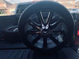 """22"""" black rims for Sale in Houston, TX"""