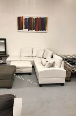♦️In Stock~New🎁Special Pablo White Sectional for Sale in Gaithersburg,  MD