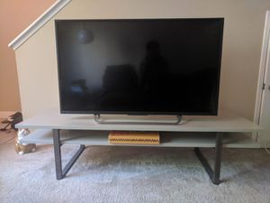 Ikea TV Stand, grey, walnut legs for Sale in San Diego, CA