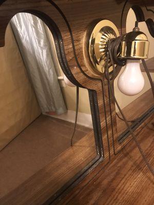 Full size headboard w/ Light for Sale in Columbus, GA
