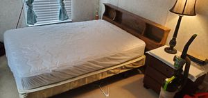 Twin size bed frame, with New pillow Top Mattress and box spring... Small Dresser included for Sale in Chesnee, SC