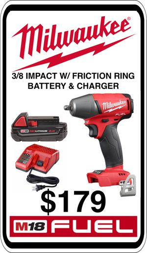 BRAND NEW - Milwaukee M18 3/8 Impact w/ Friction Ring - Charger & Battery - We accept trades & Credit Cards - AzBE Deals for Sale in Sun City, AZ