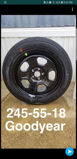 """BRAND NEW POLICE STEEL BLACK WHEEL 18"""" X 7.5"""" MOPAR WITH NEW GOODYEAR EAGLE RS-A 245-55-18 WHEEL for Sale in Alexandria, VA"""