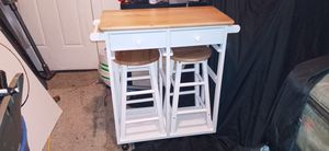 Rolling kitchen island w/ stools for Sale in Denver, CO