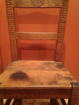 Old antique chair with ornate drawing for Sale in Philadelphia, PA
