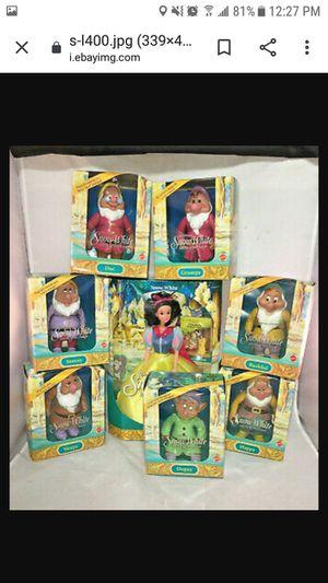 1992 mattel walt disney snow white and seven dwarfs dolls for Sale in Louisville, KY