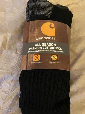 Carhartt Men's Force All Season Premium Socks Shoe: 6-12, Black 3 pairs for Sale in Henderson, NV